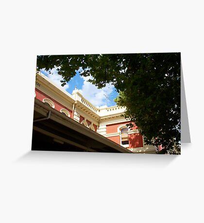 The Railway Station Ariel Greeting Card