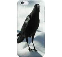 Crow on Snow iPhone Case/Skin