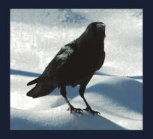 Crow on Snow Kids Tee