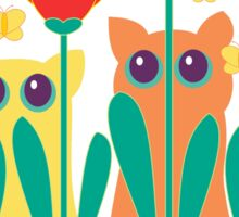 Rabble Of Butterflies In Tulip Garden Sticker