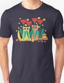 Rabble Of Butterflies In Tulip Garden Unisex T-Shirt
