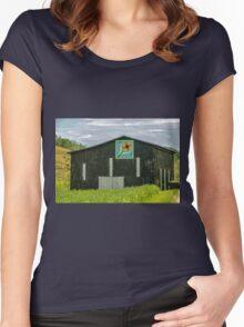 Kentucky Barn Quilt - Flower of Friendship Women's Fitted Scoop T-Shirt