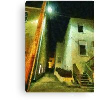Night Alleyway Canvas Print