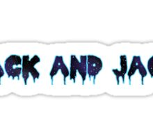 Jack and Jack wordart Sticker