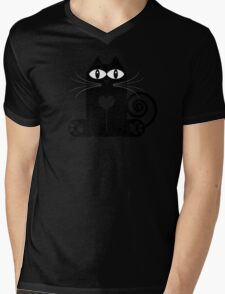LOVE CAT Mens V-Neck T-Shirt