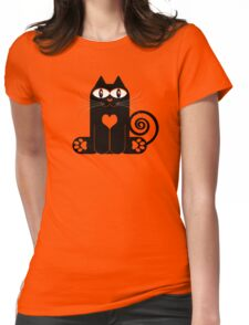 LOVE CAT Womens Fitted T-Shirt