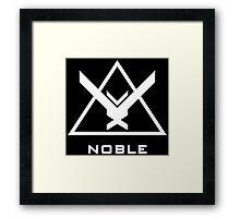 Halo: Reach - NOBLE Insignia (White) Framed Print