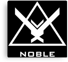 Halo: Reach - NOBLE Insignia (White) Canvas Print