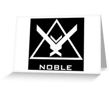 Halo: Reach - NOBLE Insignia (White) Greeting Card