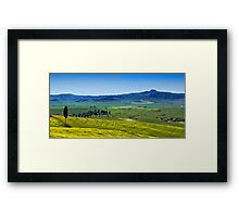 View from Pienza Framed Print
