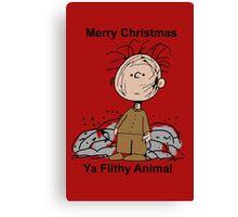 Merry Christmas ya filthy animal Canvas Print