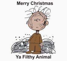 Merry Christmas ya filthy animal One Piece - Short Sleeve