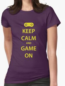 KEEP CALM and GAME ON (yellow) Womens Fitted T-Shirt