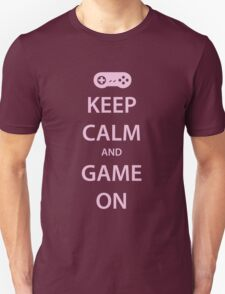 KEEP CALM and GAME ON (pink) T-Shirt