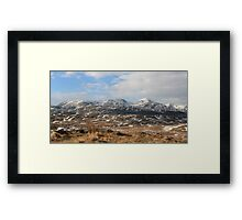 Coniston Mountain Range From Beacon Fell Framed Print