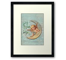 Loving Angel Wishes Framed Print