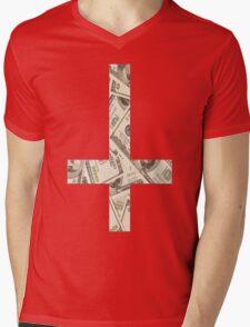 Anticross Money. Mens V-Neck T-Shirt