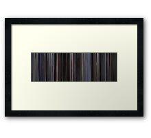 Moviebarcode: Heat (1995) Framed Print
