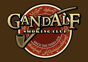 Gandalf smoking club by karlangas