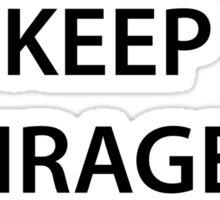KEEP ENRAGED and QAPLA (black) Sticker