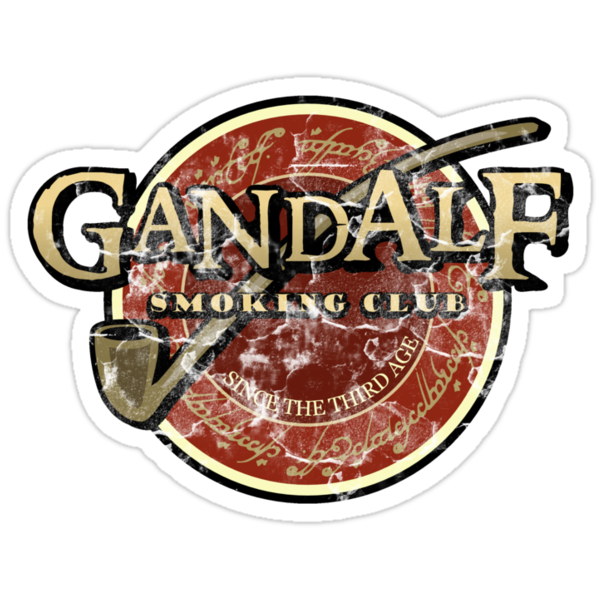 Gandalf smoking club (vintage version) by karlangas