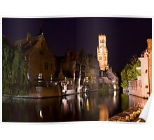 Bruges By Night Poster