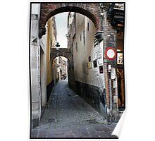 Bruges Alley Way Poster
