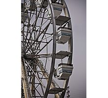 Ferris Wheel at a Traveling Carnival Photographic Print