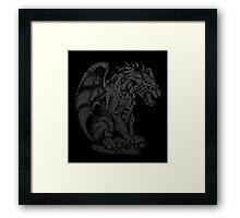 Spooky Gargoyle Framed Print