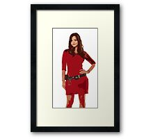 Oswin, The Impossible Girl Framed Print