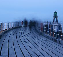 Ghostly Figures - Whitby Pier by mps2000