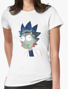 Space Rick Womens Fitted T-Shirt