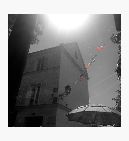 French Cafe Flags Photographic Print