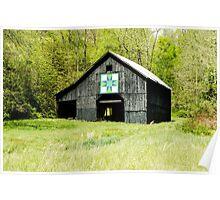 Kentucky Barn Quilt - Darting Minnows Poster