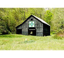 Kentucky Barn Quilt - Darting Minnows Photographic Print