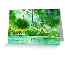 Light N GreensR Greeting Card
