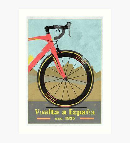 Vuelta a España Bike Art Print