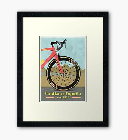 Vuelta a España Bike Framed Print