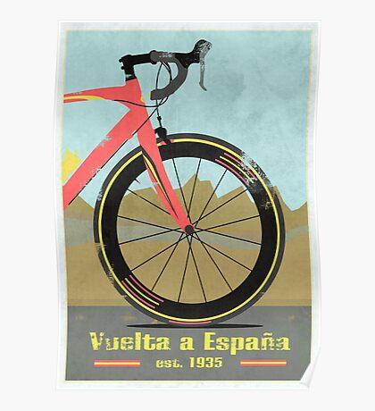 Vuelta a España Bike Poster