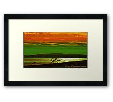Going Home at Sunset Framed Print