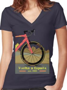 Vuelta a España Bike Women's Fitted V-Neck T-Shirt