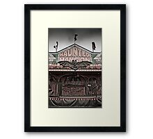 Haunted Mansion at a Carnival Framed Print