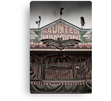 Haunted Mansion at a Carnival Canvas Print