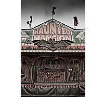 Haunted Mansion at a Carnival Photographic Print