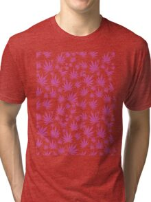 Pink Kush (Leaves in the wind) Tri-blend T-Shirt