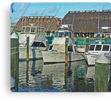 ft pierce marina Canvas Print