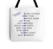 The Doctor and his Companions Tote Bag