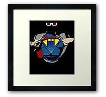 THE MAN OF TIME Framed Print