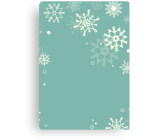 Retro simple Christmas card with snowflakes Canvas Print