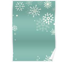 Retro simple Christmas card with snowflakes Poster